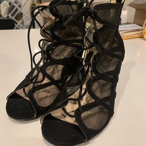 Torrid Sexy Mesh Lace Up Wedges Size 11
